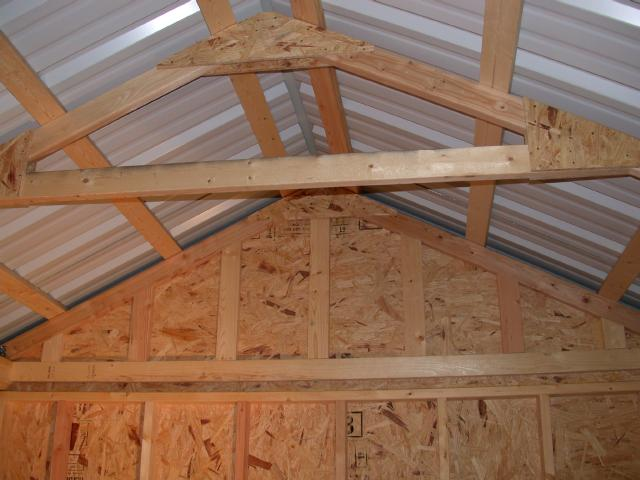 ... roof is screwed down to 2x4 strapping that I ran horizontally on top